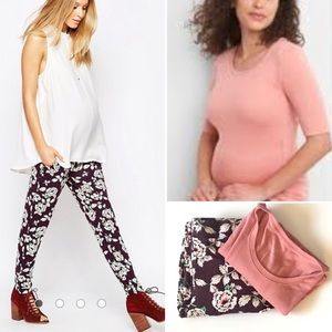 Bundle of ASOS Maternity pants and GAP T - size 4